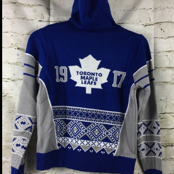new concept e739d e6e53 NHL Toronto Maple Leafs Hoodie Sweater Youth F12